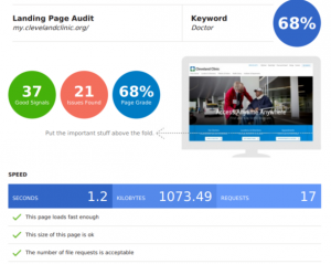 Free SEO website audit report